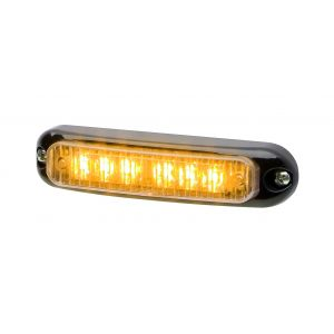 SURFACE MOUNT MICRON LED GRILL LIGHT AMBER - SMOKED