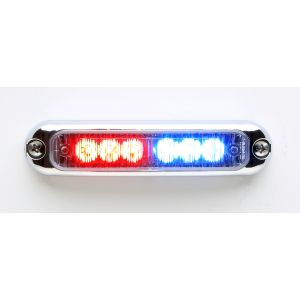 SURFACE MOUNT MICRON LED GRILL LIGHTS RED BLUE CHROME