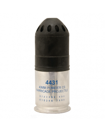 """40MM CS Powder Barricade, Spin Stabilized, 4.8"""" Long  *Special Shipping - Call For Details"""
