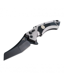 X5 3.5  Sig Tactical Folder CPM154 Wharncliffe Blade Black Finish - Grey Aluminum Frame Solid Black G10 Insert