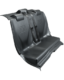 Full Replacement Transport Seat TPO Plastic with Center Pull Seat Belt System - Dodge Charger 11-18