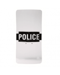 Shield Decal Police/Sheriff/Corrections/Policia 5  X 23    White/Black