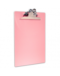CLIP BOARD, LETTER/A4: PINK