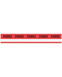 Sirchie - SIRCHMARK™ Evidence Integrity Tape Red w/ White stripe w/ Black  Evidence  108