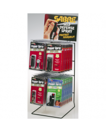 SABRE RED BEST SELLER TWO-TIER DISPLAY
