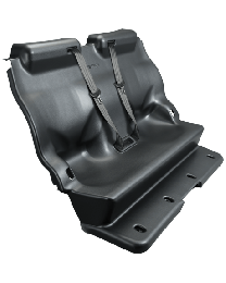 Full Replacement Transport Seat TPO Plastic with Center Pull Seat Belts - Chevy Tahoe 15-18
