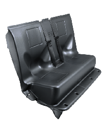 Full Replacement Transport Seat TPO Plastic, with Center Pull Seat Belts- Ford Interceptor Utility 12-18
